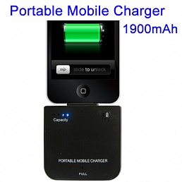 Мобильное зарядное устройство 1900mAh для iPhone 4 & 4S/ 3G/ 3GS/ Ipad 2, 3 NEW / iPhone/ iPod nano 3rd/ iPod classic/ iPod touch